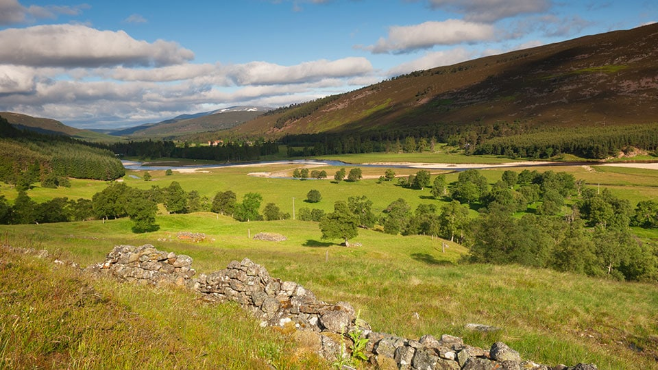 Cairngorms National Park - Mar Lodge Estate in Deeside, near the village of Braemar, Aberdeenshire, Scotland.